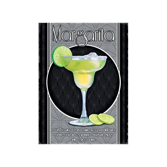 Metalen wand bordje Margarita (bron: Funenfeestwinkel)