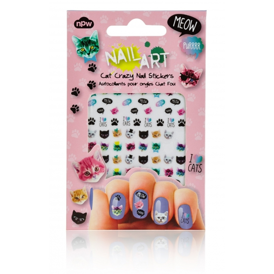 Nagel decoratie sticker set katten (bron: Funenfeestwinkel)