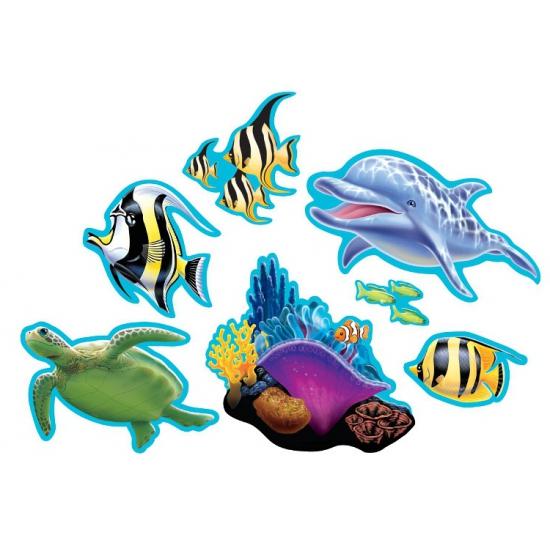 Oceaan thema decoraties 7 stuks
