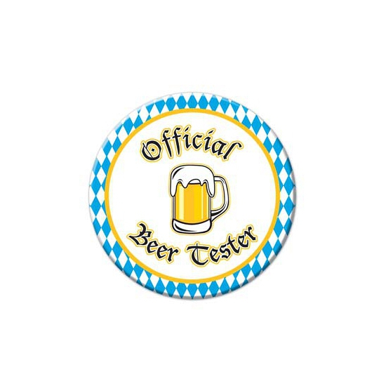 Oktoberfest buttons Beer Tester (bron: Funenfeestwinkel)
