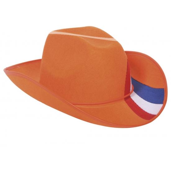 Oranje cowboy hoed Nederland (bron: Funenfeestwinkel)