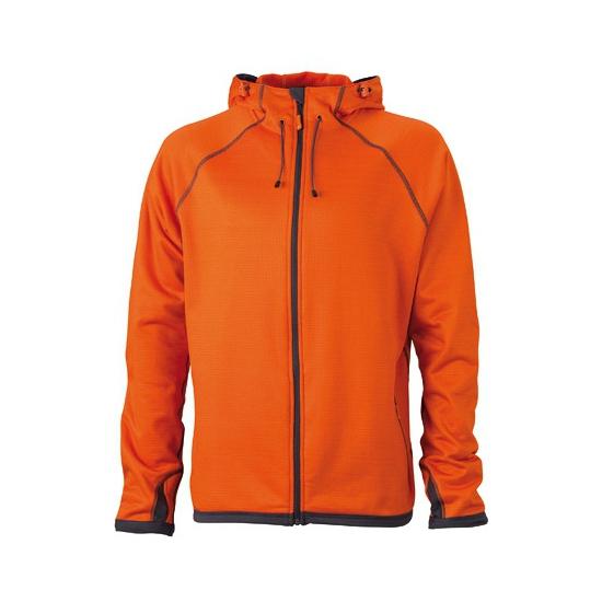 Oranje heren fleece vesten (bron: Funenfeestwinkel)