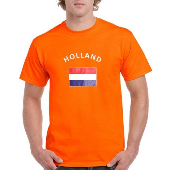 Oranje holland vlag t-shirts (bron: Funenfeestwinkel)