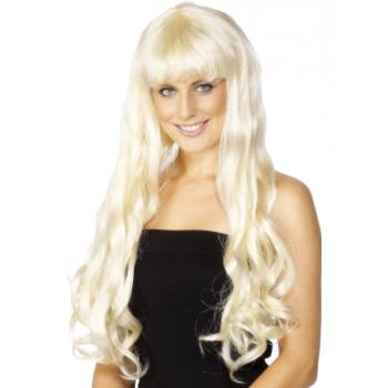 Paris pruik met lang blond haar (bron: Funenfeestwinkel)