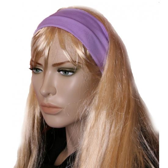 Pastel paarse dames haarband (bron: Funenfeestwinkel)