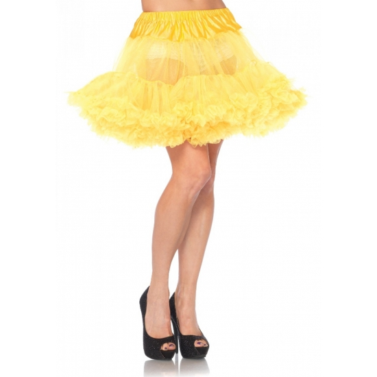 Petticoat luxe geel voor dames (bron: Funenfeestwinkel)