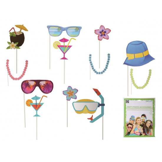 Photo booth prop accessoires strand (bron: Funenfeestwinkel)