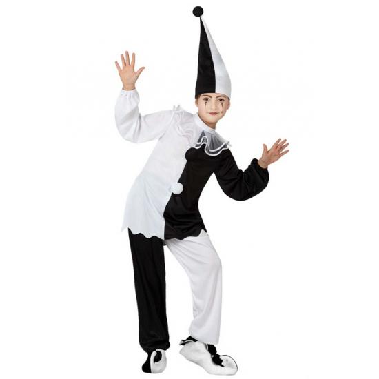 Pierrot clown kostuum voor kids