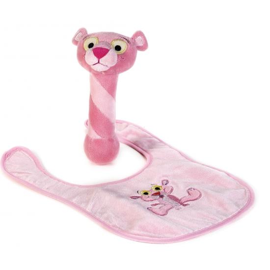 Pink Panter slabbetje met rammelaar