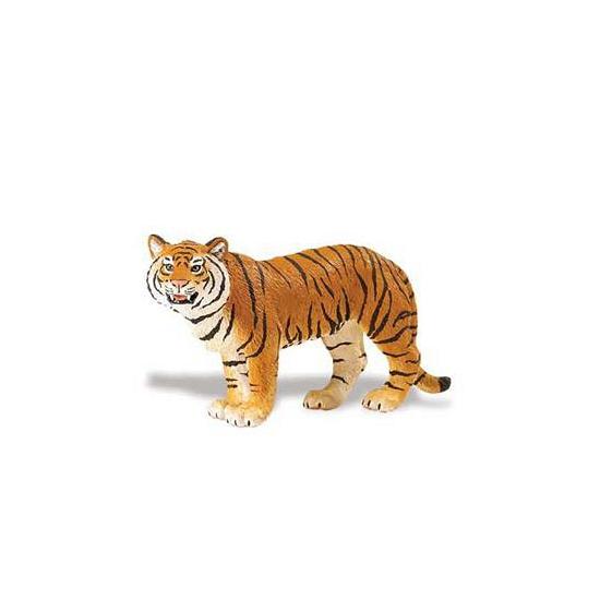 Plastic Bengaalse tijgerin bruin 14 cm