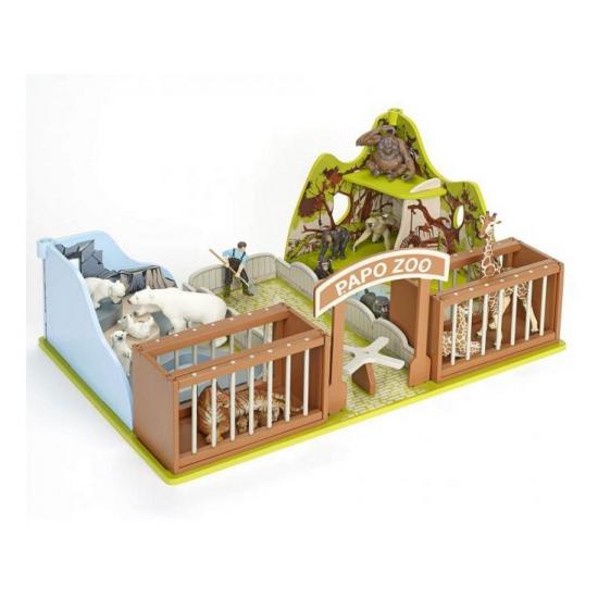Plastic dierentuin speelset