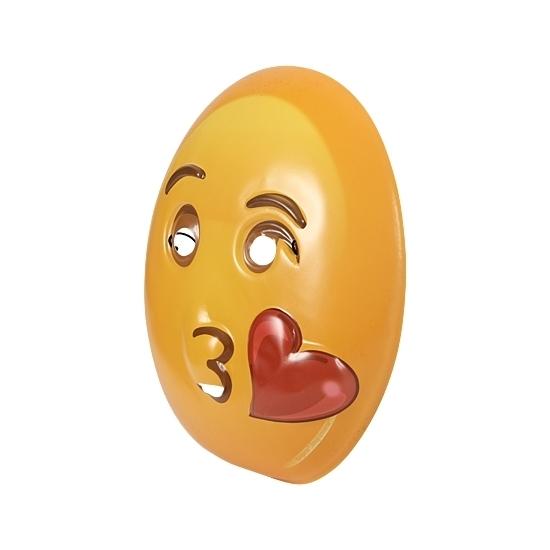 Plastic emoticon masker kusje (bron: Funenfeestwinkel)