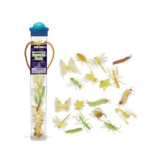 Plastic insecten dieren glow in the dark 18 stuks (bron: Funenfeestwinkel)