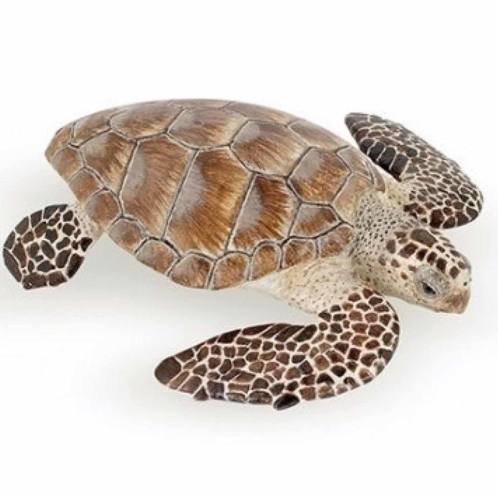 Plastic karetschildpad speeldiertje 7,5 cm