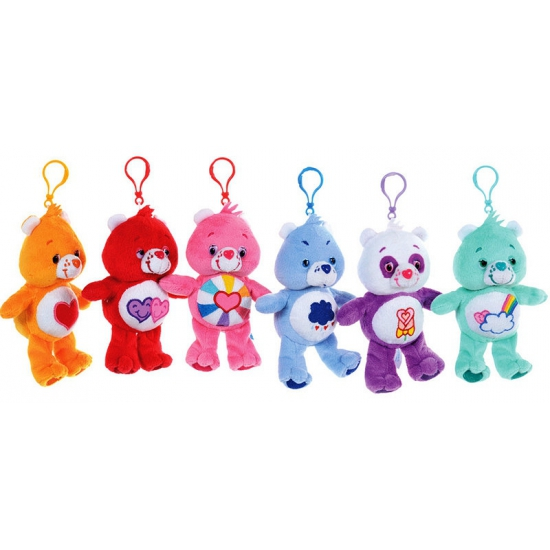 Pluche care bear met clip 13 cm