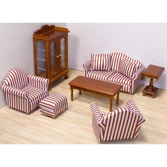 Poppenhuis woonkamer meubels