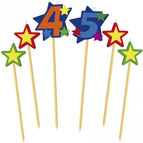Prikker kaarsjes cijfer 45