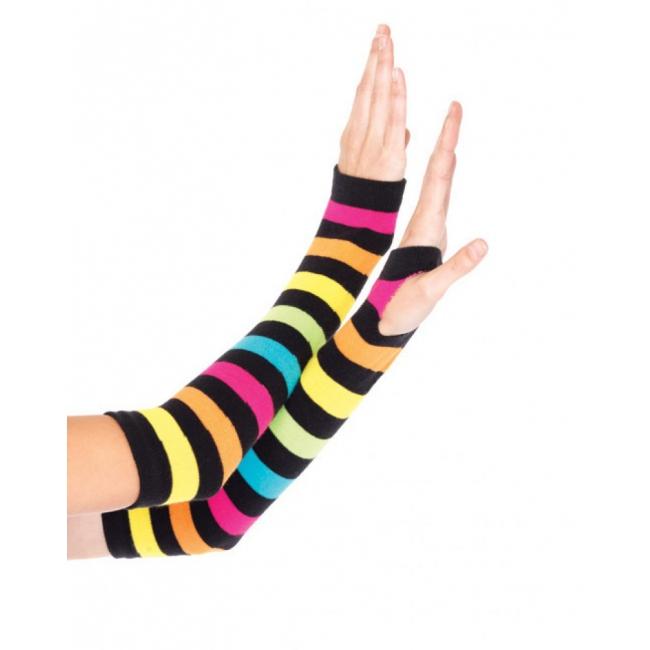 Regenboog handschoenen zonder vingers (bron: Funenfeestwinkel)
