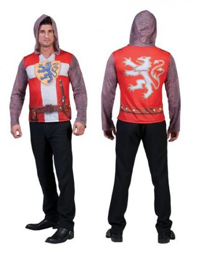 Ridderpak 3D t-shirt voor heren (bron: Funenfeestwinkel)
