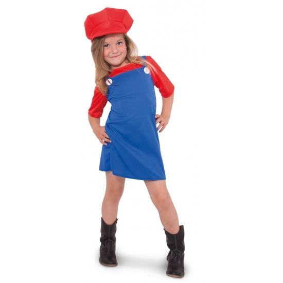 Rode loodgieter outfit voor meisjes (bron: Funenfeestwinkel)