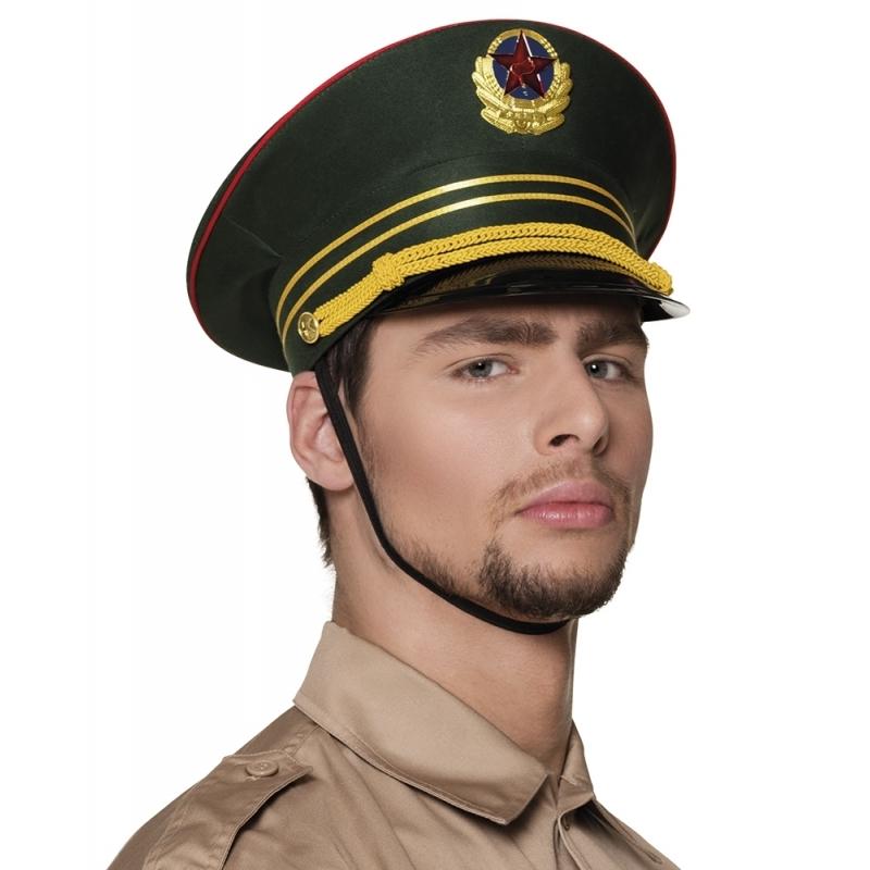 Russische militair pet groen (bron: Funenfeestwinkel)