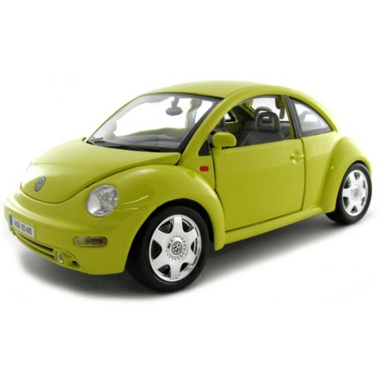 Schaalmodel Volkswagen Beetle geel (bron: Funenfeestwinkel)