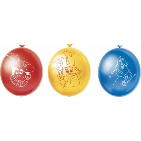 Sinterklaas ballonnen 10 stuks thumbnail