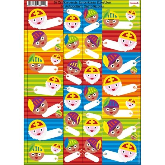 Sinterklaas cadeau etiketten 26 stuks thumbnail