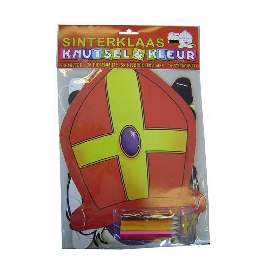 Sinterklaas mijter kleurset thumbnail