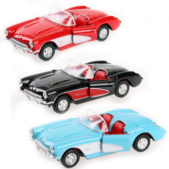 Speelgoed auto Chevrolet Corvette 1957 cabrio (bron: Funenfeestwinkel)