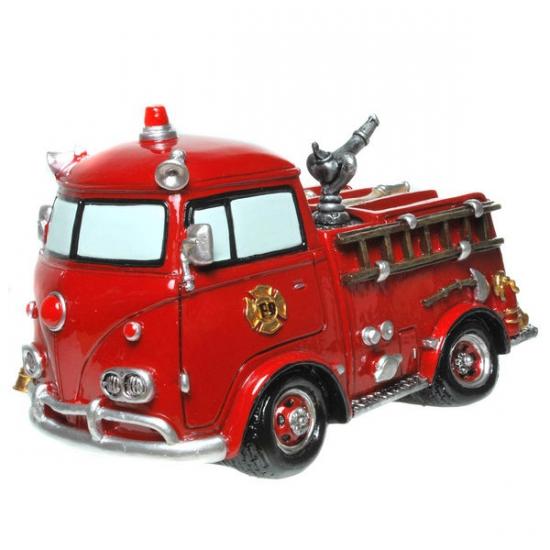 Stenen spaarpot brandweerauto (bron: Funenfeestwinkel)