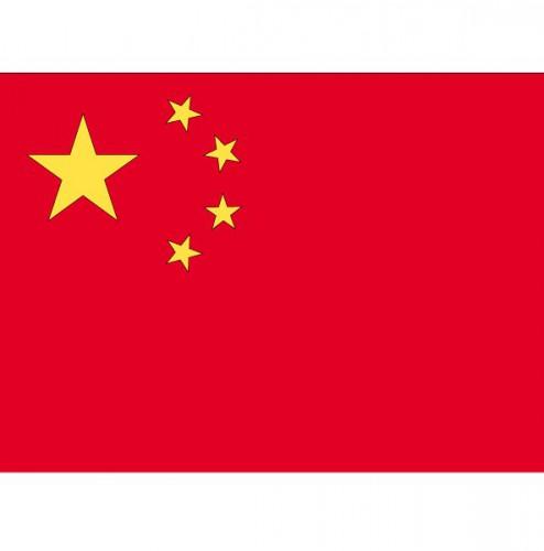 Stickertjes van vlag van China (bron: Funenfeestwinkel)