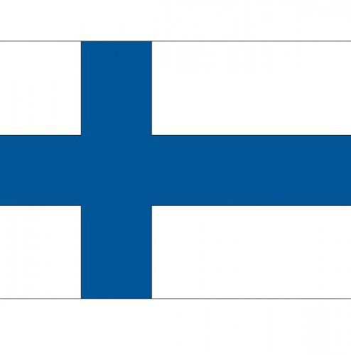 Stickertjes van vlag van Finland (bron: Funenfeestwinkel)