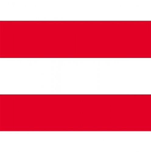 Stickertjes van vlag van Oostenrijk (bron: Funenfeestwinkel)