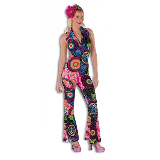 Strakke disco jumpsuit voor dames (bron: Funenfeestwinkel)