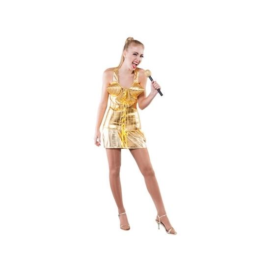 Supersterren outfit goud voor dames (bron: Funenfeestwinkel)