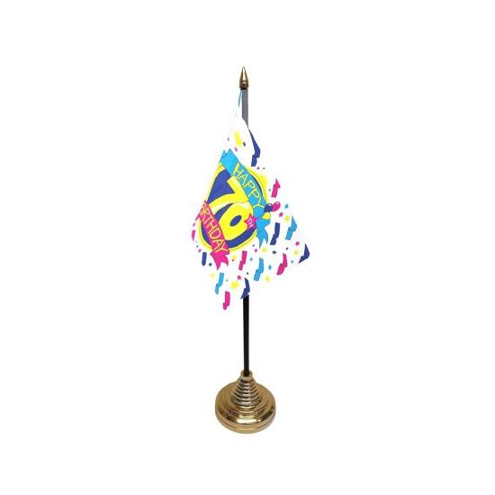 Tafelvlaggetjes Happy Birthday 70