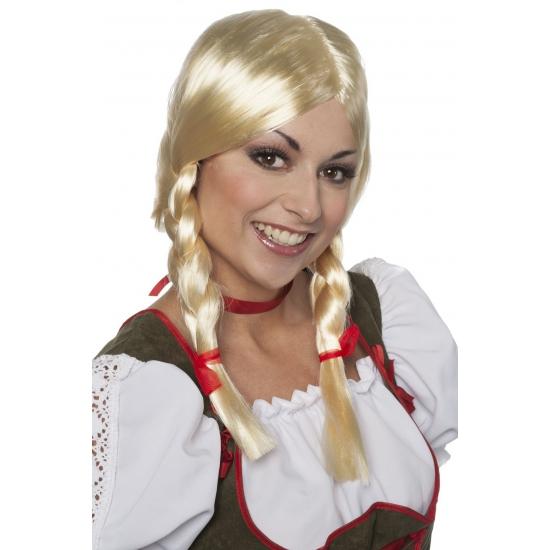 Tiroler pruik Greetje voor dames (bron: Funenfeestwinkel)