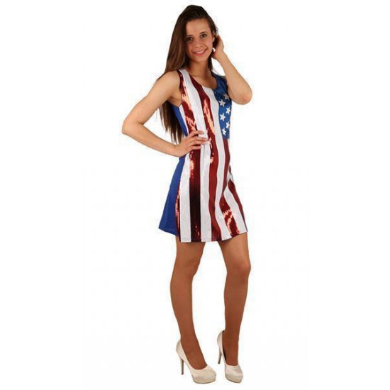 USA jurkje met pailletten (bron: Funenfeestwinkel)