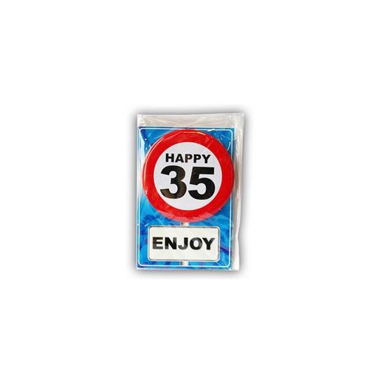 Verjaardagskaart 35 jaar (bron: Funenfeestwinkel)