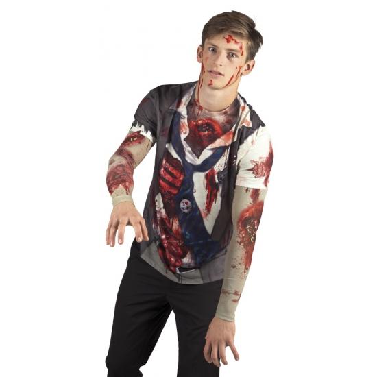 Verkleed zombie t-shirt (bron: Funenfeestwinkel)