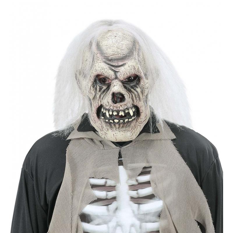 Verrotte schedel masker voor volwassenen (bron: Funenfeestwinkel)