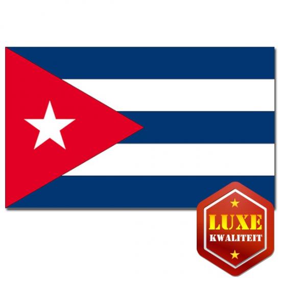 Vlag Cuba zware kwaliteit (bron: Funenfeestwinkel)