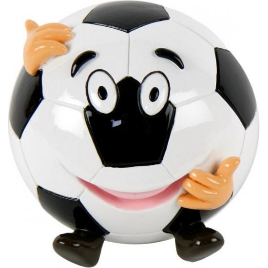 Voetbal spaarpot met gezicht (bron: Funenfeestwinkel)