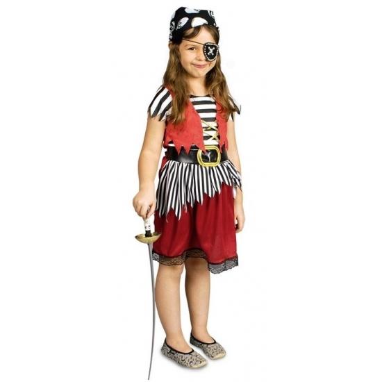 Voordelig piratenpakje voor meisjes (bron: Funenfeestwinkel)