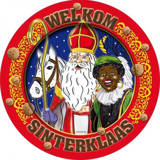 Welkom Sinterklaas borden 8 stuks thumbnail