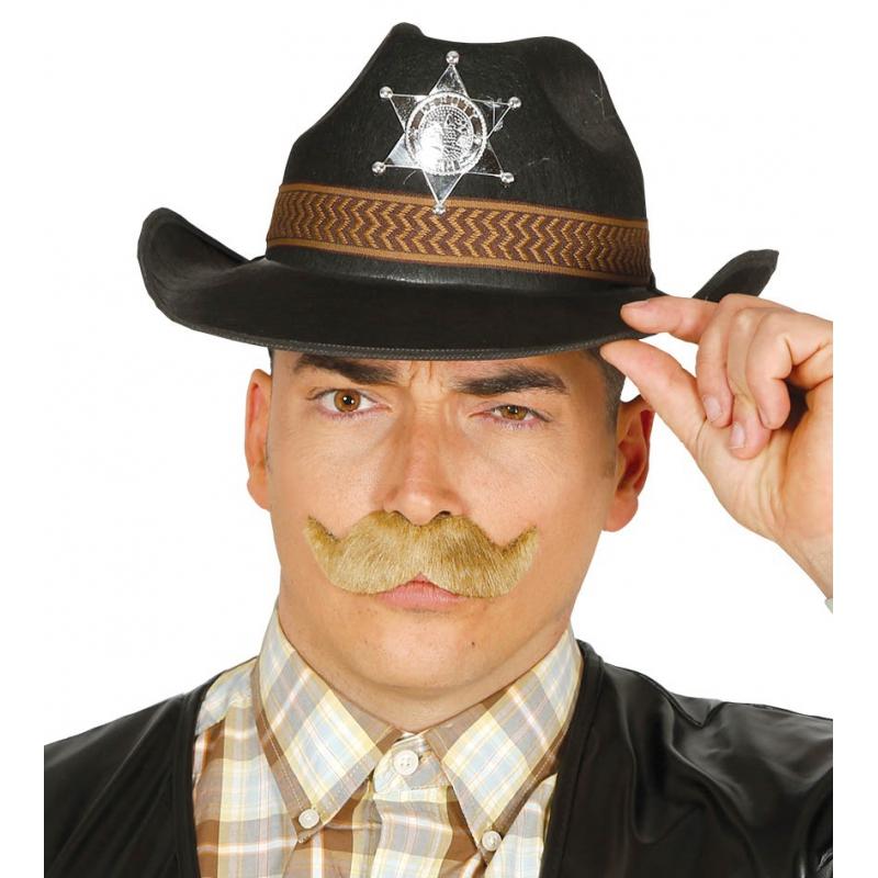 Western Sheriff hoed zwart voor mannen (bron: Funenfeestwinkel)