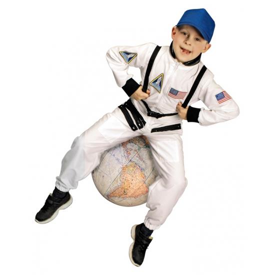 Wit astronauten pak voor kinderen (bron: Funenfeestwinkel)