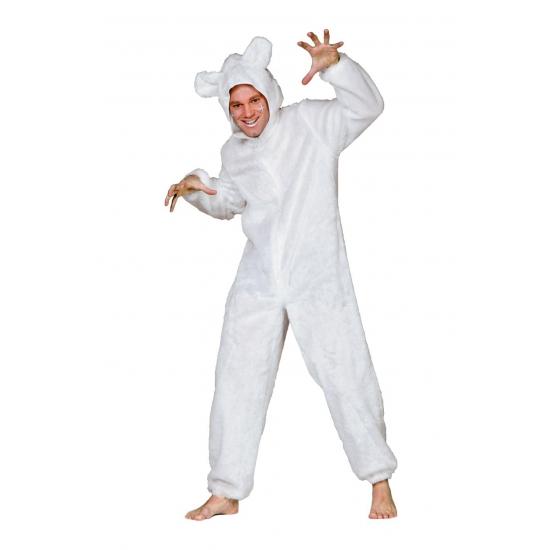 Wit ijsberen pak voor volwassenen (bron: Funenfeestwinkel)