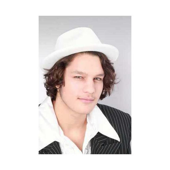 Witte kojak hoeden (bron: Funenfeestwinkel)